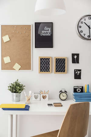 Modern designed study space in student's room