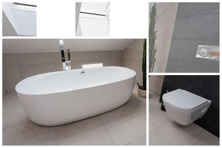 tasteful: Modern and tasteful bathroom in light colors