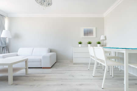 wood flooring: Picture of functional interior of modern design flat