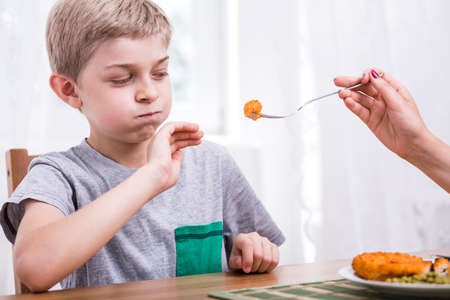 eater: Young picky child refusing to eat dinner