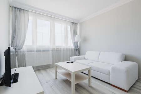 Foto di accogliente luce salotto con mobili semplici