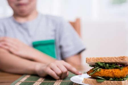 eater: Vegetarian child refusing to eat chicken sandwich