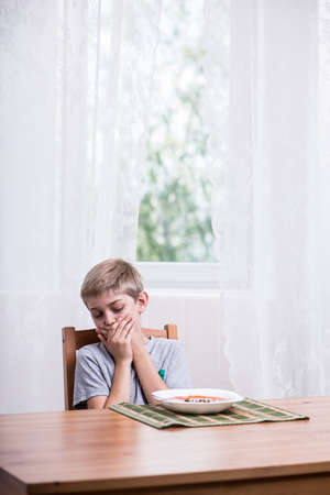 eater: Picky boy refusing to eat tomato soup