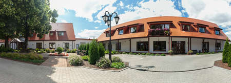 well maintained: Panorama of hotel buildings taken from outside