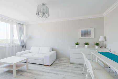 Photo de soignée élégant appartement meublé contemporain Banque d'images - 43706908