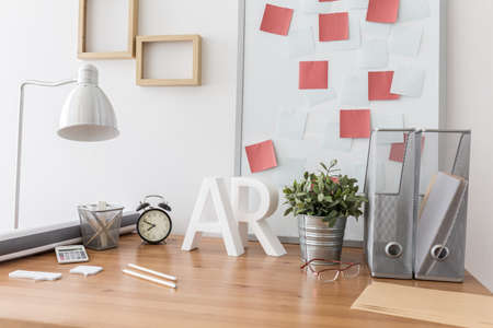working space: Image of contemporary space for designer working at home Stock Photo