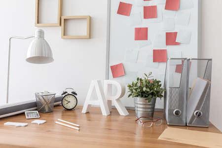 Imagen del espacio contemporáneo para el diseñador que trabaja en casa