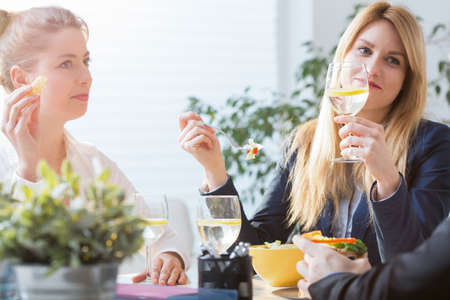 coworker: Coworkers going out for lunch during break from work