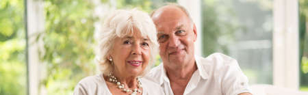 spending: Elder couple is spending time together
