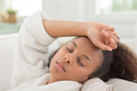 african beauty: Afro-American beauty girl sleeping during the day