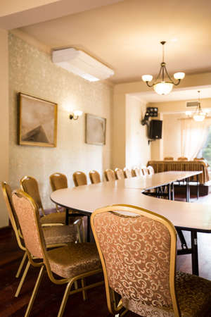 luxury hotel room: Interior of conference room in luxury hotel