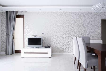 luxury living room: Exclusive living room interior in luxury house