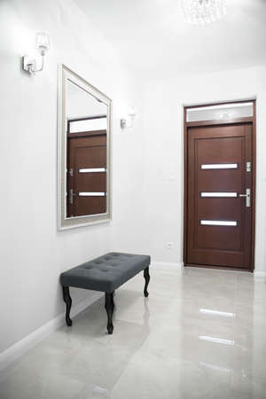 gleaming: Gleaming tiled floor in anteroom in exclusive house