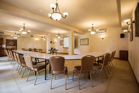 luxury hotel room: Stylish empty meeting room in luxury hotel