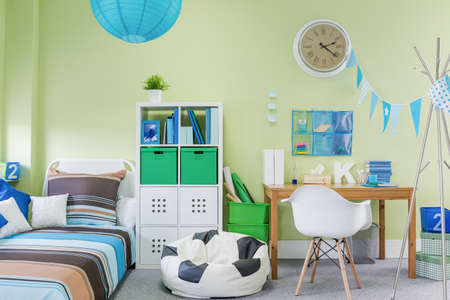 boy room: Picture of teenage boy room interior with stylish furniture
