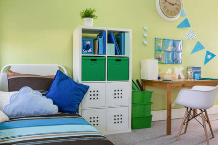 cosy: Photo of new design colorful boy room with cosy furniture
