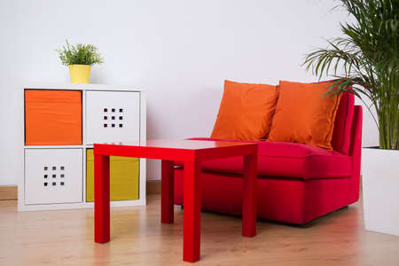 cosy: Photo of colorful relaxation space in cosy teenager room