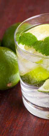 mohito: Mohito cocktail with fresh lime and mint