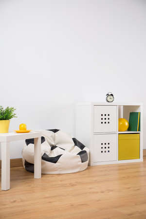 cosy: Image of new furniture in cosy bright child room