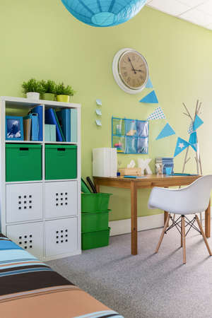 play room: Image of child study room with modern cabinet