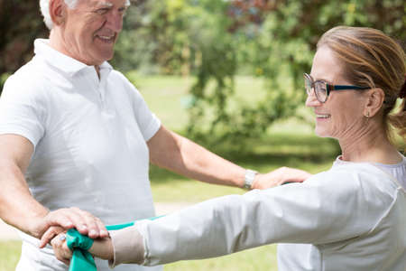 active lifestyle: Image of active senior marriage improving their physical condition