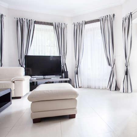 white window: Modern stylish drawing room in luxury residence