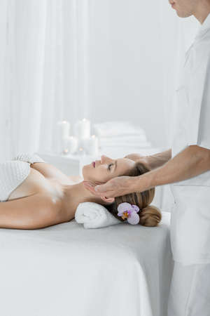 Image of spa woman leading healthy lifestyle