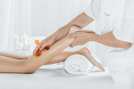Image of healthy legs massage for better circulation