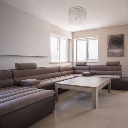 sofa: Luxury comfortable corner sofa in exclusive residence