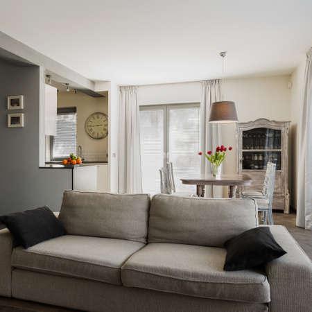 Interior of home in modern retro style Archivio Fotografico