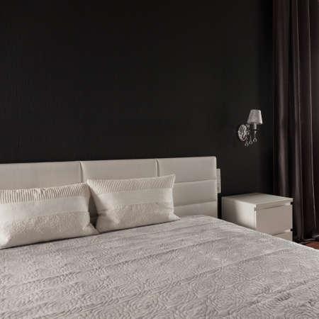 bedroom bed: Comfortable marriage bed in luxury elegant bedroom