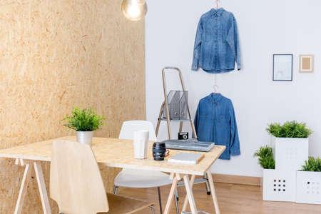 Photo of modern studio of creative worker