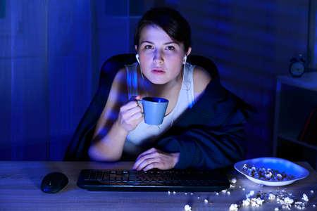 sleepless: Student is exhausted because of sleepless night