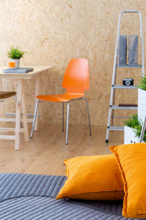 Image of modern creative workspace for small businessman