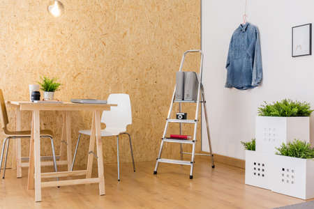 enterprising: Image of simple home studio of enterprising person