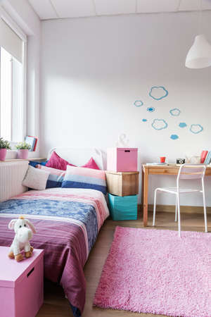 Interior of cute room for little girl
