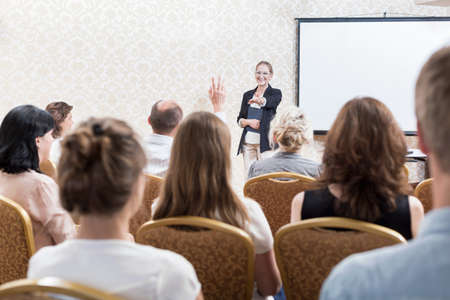 professional people: Image of people during professional training seminar for business workers
