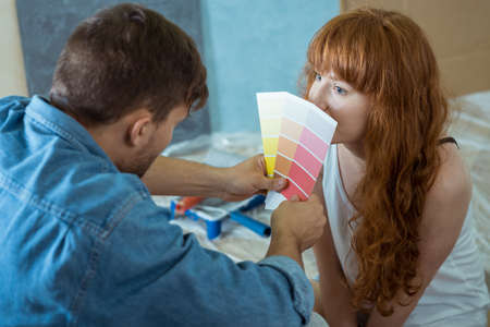 redecorate: Marriage with palette of colors choosing color for new bedroom