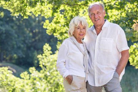nature photo: Photo of elder couple in city park