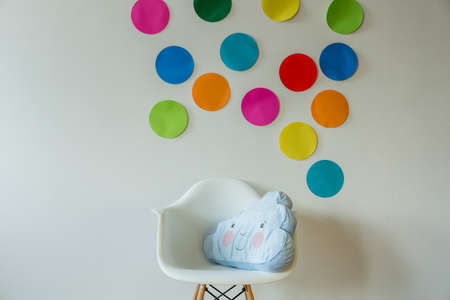 spot: Cloud shaped pillow in cozy childs room