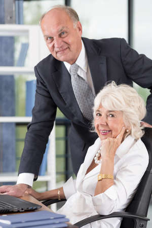 fulfilled: Elder business people are rich and fulfilled Stock Photo