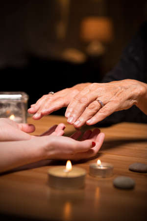 witchery: Old fortune teller sees a future from palms