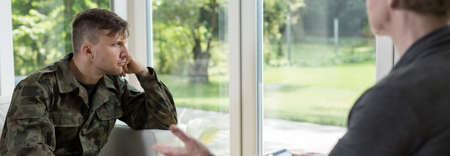civil disorder: Psychotherapy with a soldier suffering from war trauma