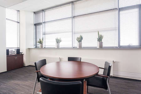 table: Space for business meeting in the office