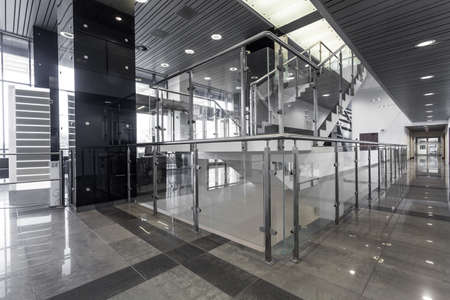office building: Corridor and stairs in modern office building