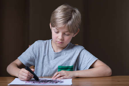 maltreatment: We can see childrens problems on their drawings Stock Photo