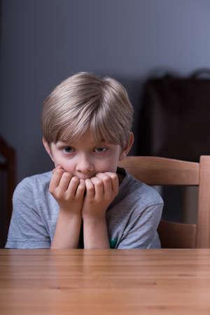 maltreatment: Little boy is afraid of his parent