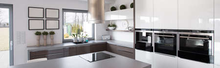 New technology kitchen equipment in modern house