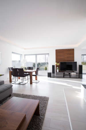 contemporary house: Interior of a modern elegant house for sale