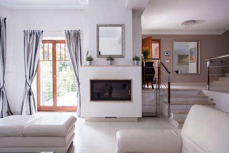 furnish: Image of spacious comfortable salon in new design Stock Photo